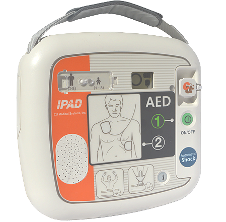 Picture of Defibrillator (AED) with voice commands, Modell iPAD CU-SP1 auto